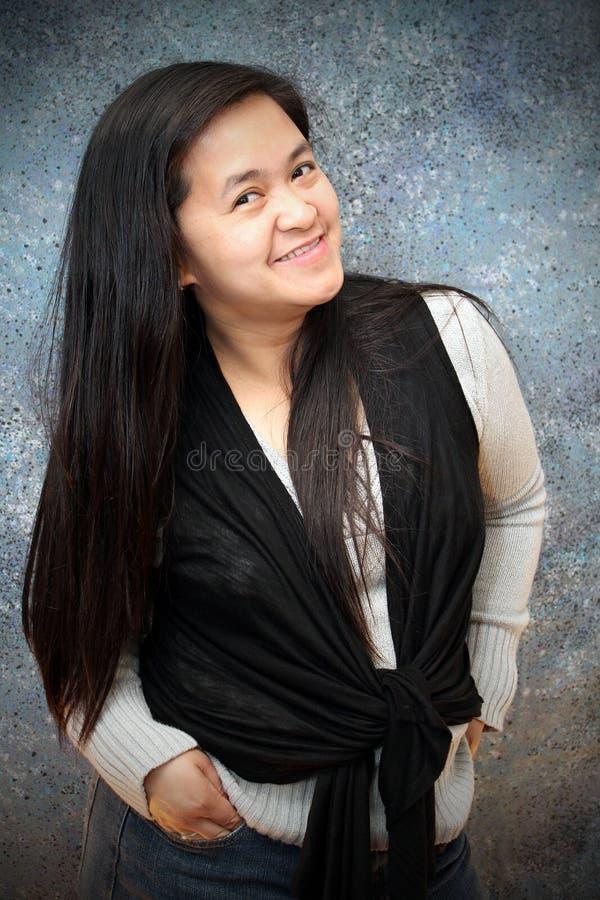 Senhora asiática feliz imagem de stock royalty free