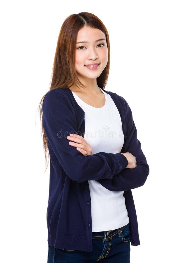 Senhora asiática nova bonita imagens de stock