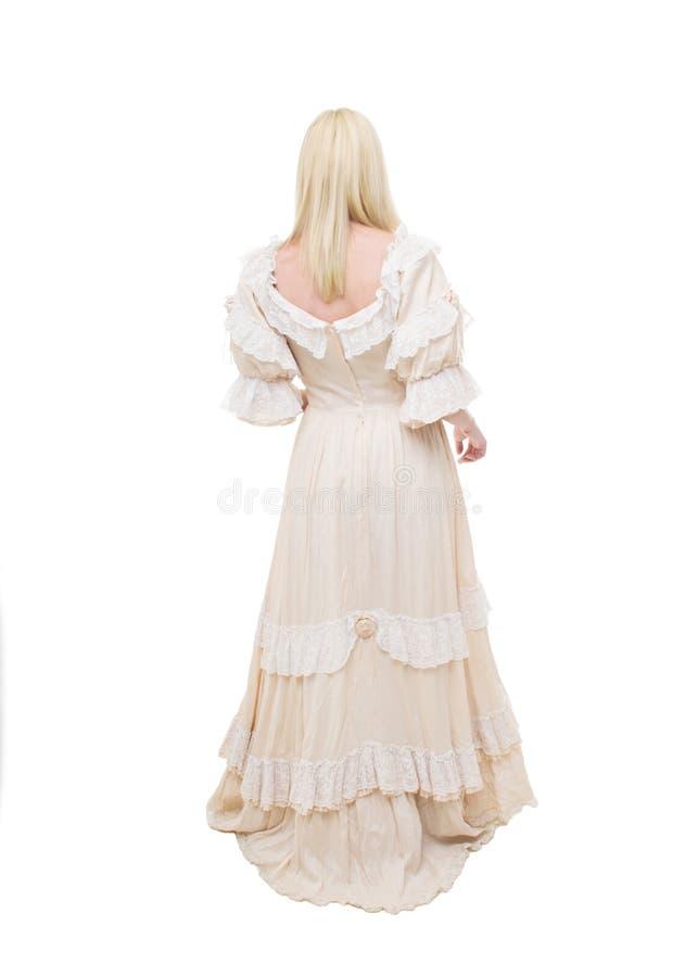 Mulher bonita do Victorian da parte traseira imagem de stock