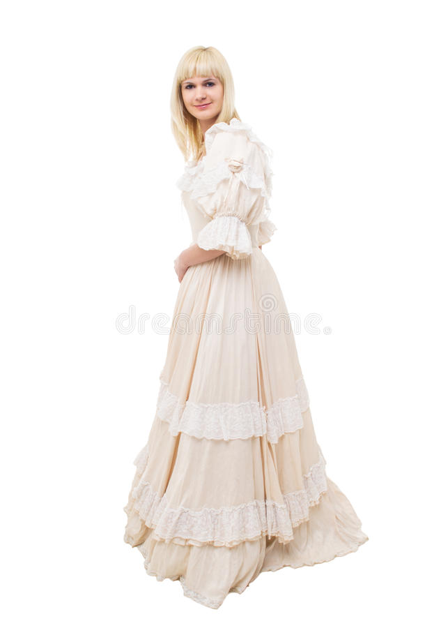 Mulher bonita do Victorian imagens de stock