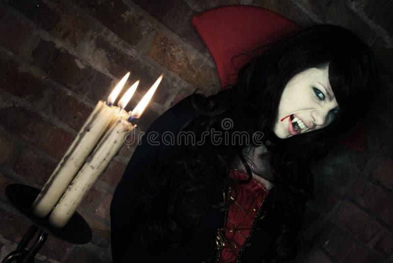 Senhora bonita Vampiro imagem de stock royalty free