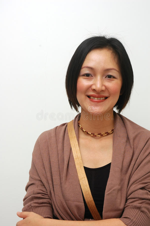 Senhora chinesa alegre imagens de stock