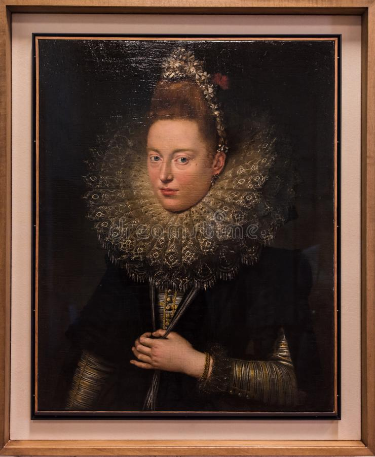 Senhora com as candelárias por Peter Paul Rubens fotografia de stock