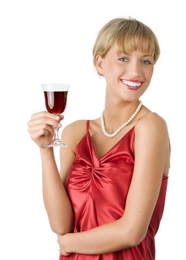 Senhora com grande sorriso fotos de stock royalty free