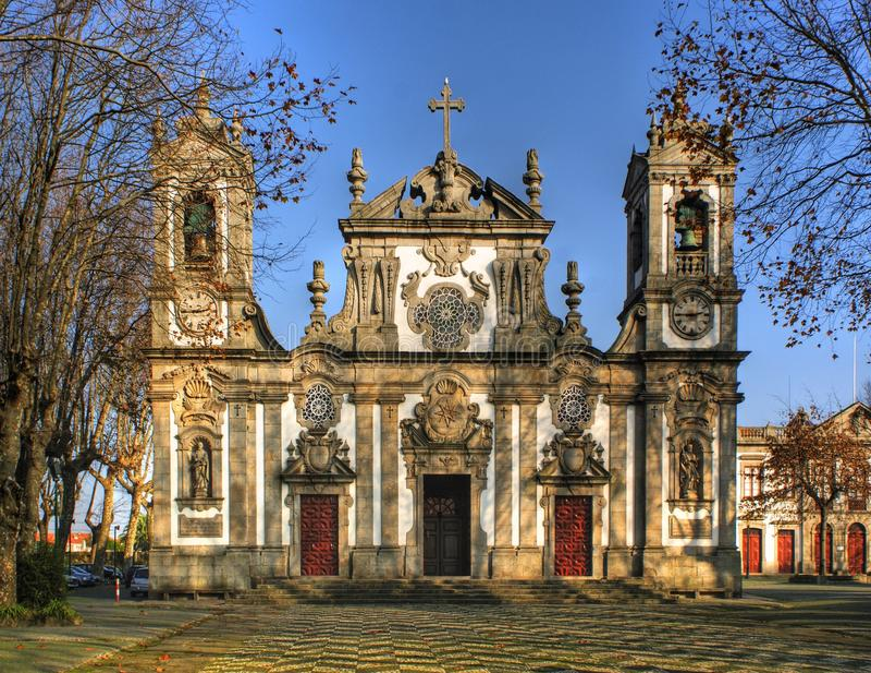 Senhora da Hora church in Matosinhos. Portugal royalty free stock photos