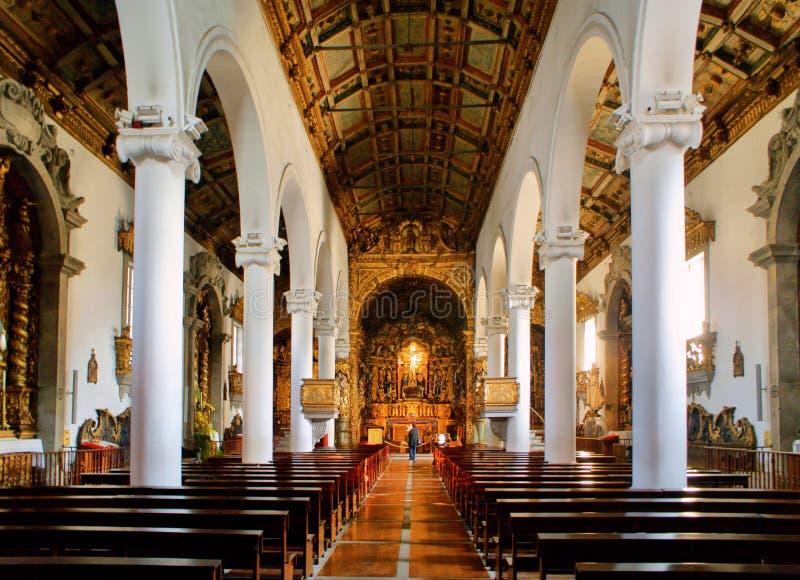 Senhora da Hora church in Matosinhos stock image