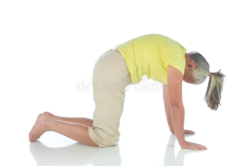 Senhora da ioga foto de stock