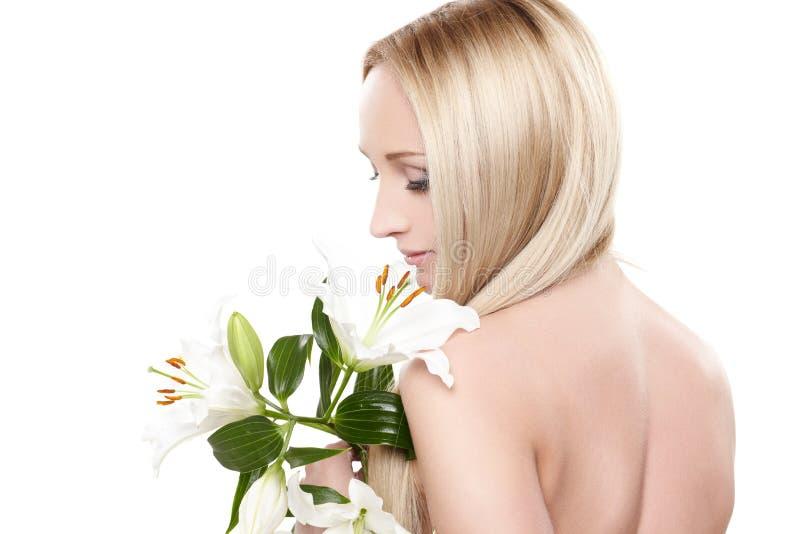 Senhora da orquídea fotografia de stock royalty free