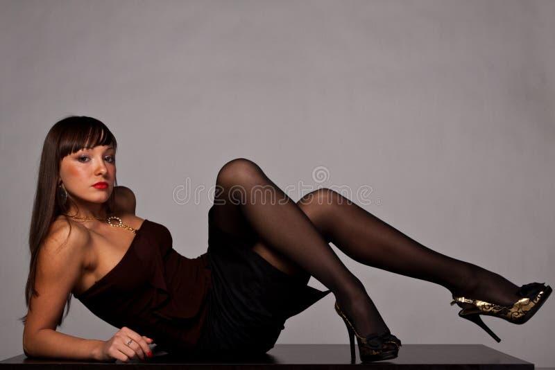 Senhora de Beautifful fotografia de stock royalty free
