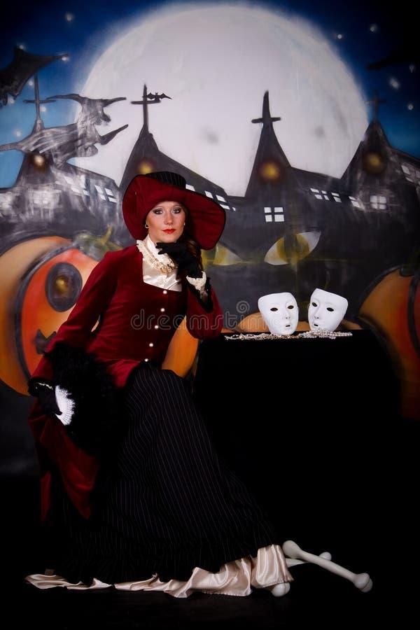Senhora de Halloween foto de stock royalty free