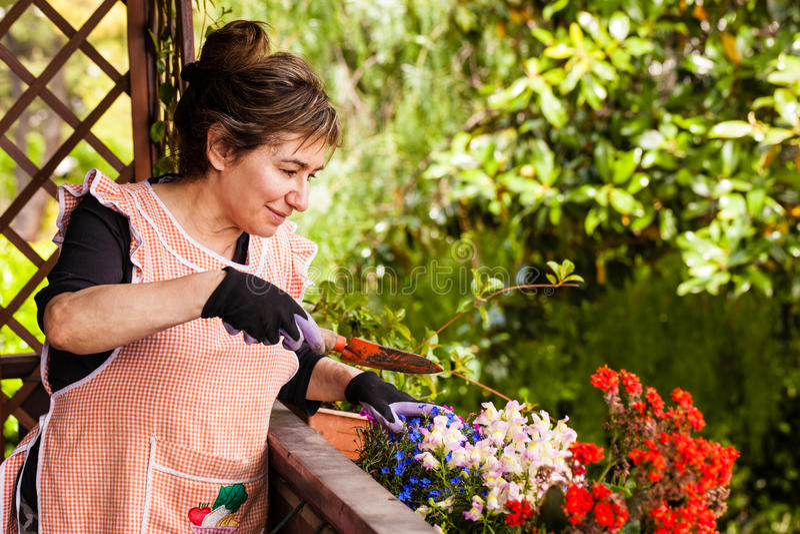 Senhora de jardinagem imagens de stock royalty free