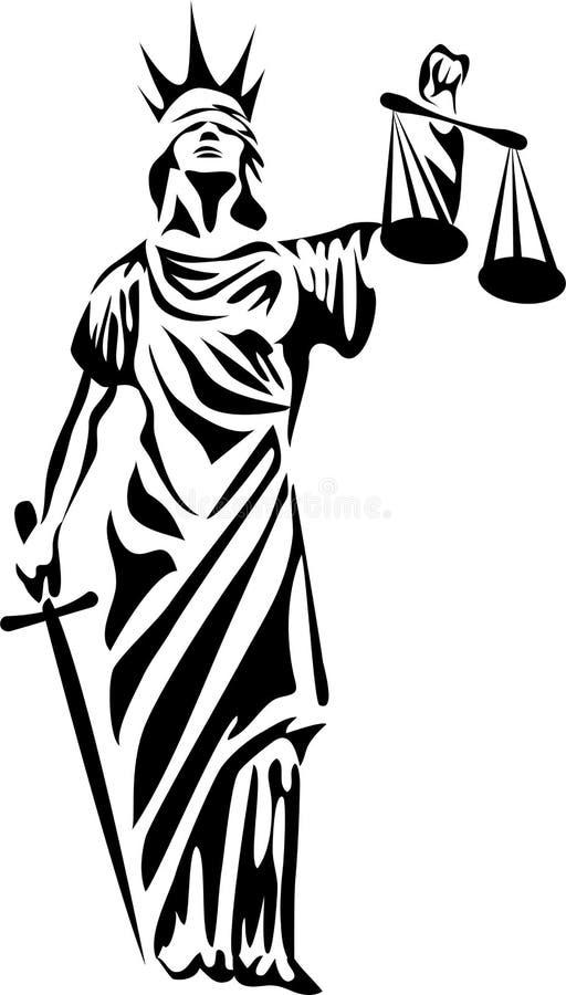 Senhora de justiça ilustração royalty free