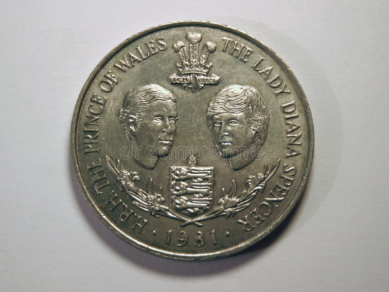 Download Senhora Diana E Principe De Gales Foto de Stock - Imagem de príncipe, moeda: 64446