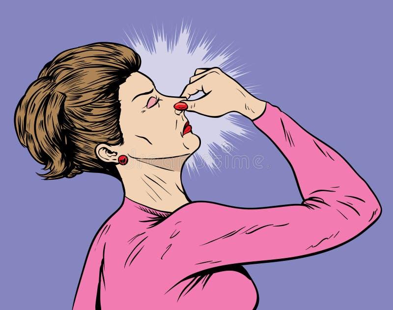 Senhora do fedor ilustração do vetor