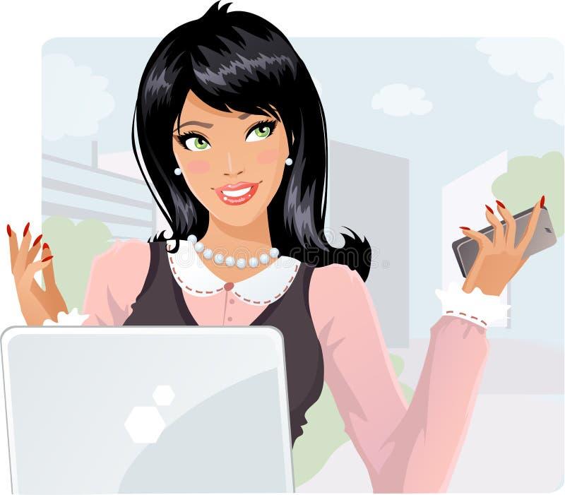 Senhora do negócio ilustração stock