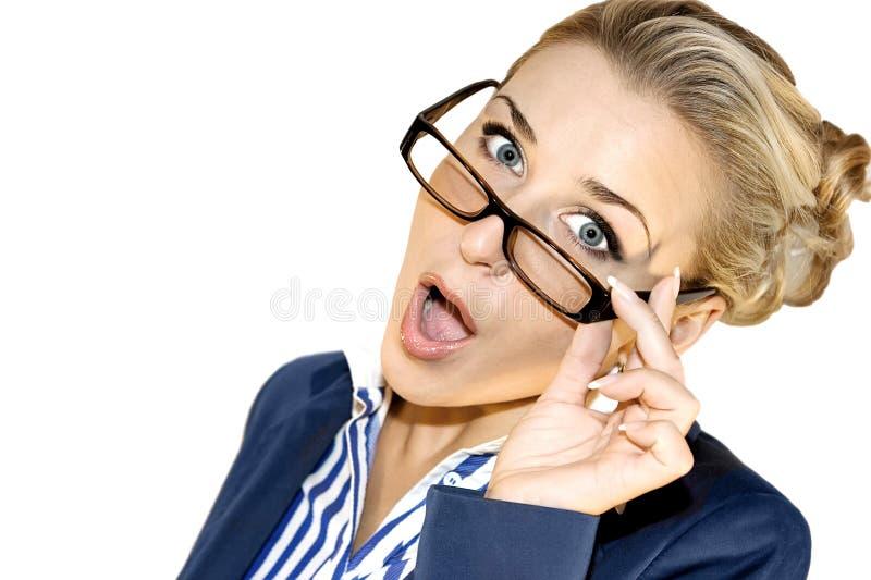 Senhora do negócio com móbil imagens de stock