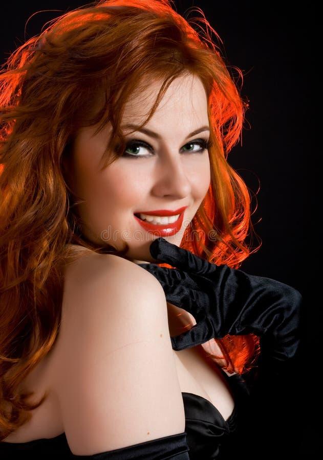 Senhora do Redhead fotos de stock