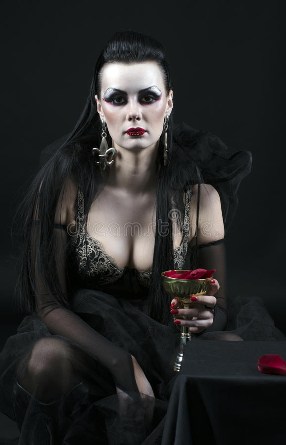 Senhora do vampiro foto de stock royalty free