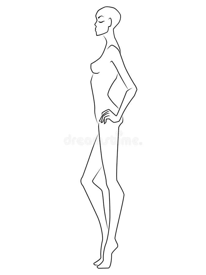 Senhora elegante da extremidade graciosa abstrata