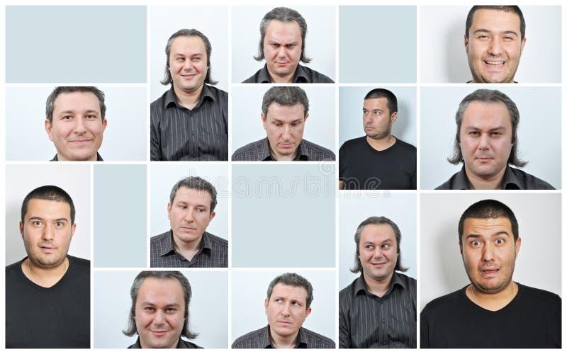 Senhora facial de Expressions imagem de stock