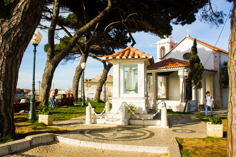 Senhora faz o eremitério de Monte, Lisboa, Portugal fotos de stock royalty free