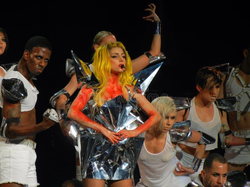 Senhora Gaga Vida Feb_28_2011 fotografia de stock