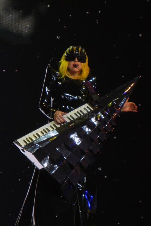 Senhora Gaga Vida Feb_28_2011 imagem de stock