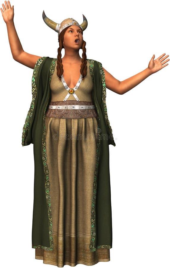 A senhora gorda canta o cantor Isolated Illustration de Opera ilustração do vetor