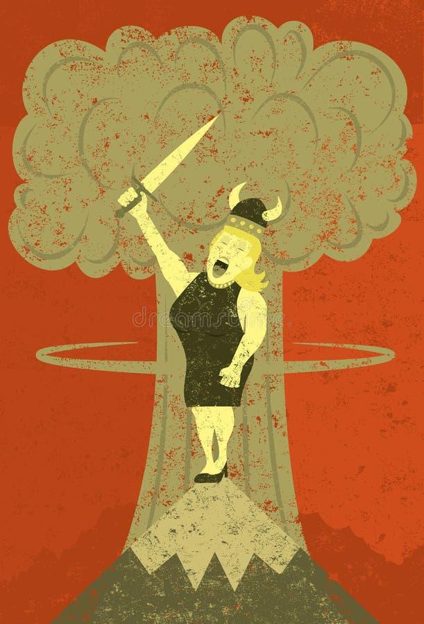Senhora gorda que canta no apocalipse ilustração stock