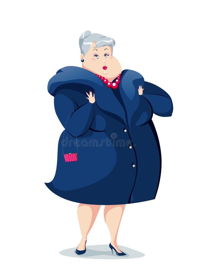 Senhora idosa ilustração royalty free