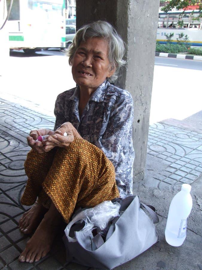 Senhora idosa, Tailândia. imagens de stock royalty free
