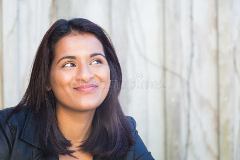 Senhora indiana feliz imagem de stock royalty free
