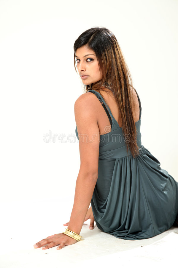 Senhora indiana nova bonita imagem de stock royalty free