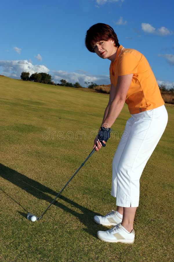 Senhora Jogador de golfe imagem de stock