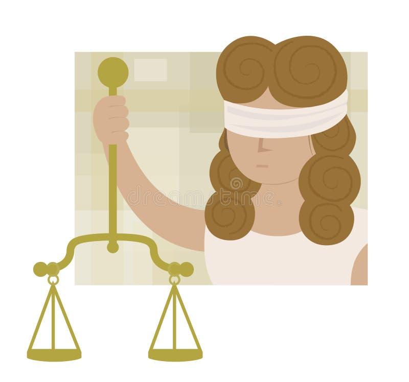 Senhora Justiça ilustração royalty free