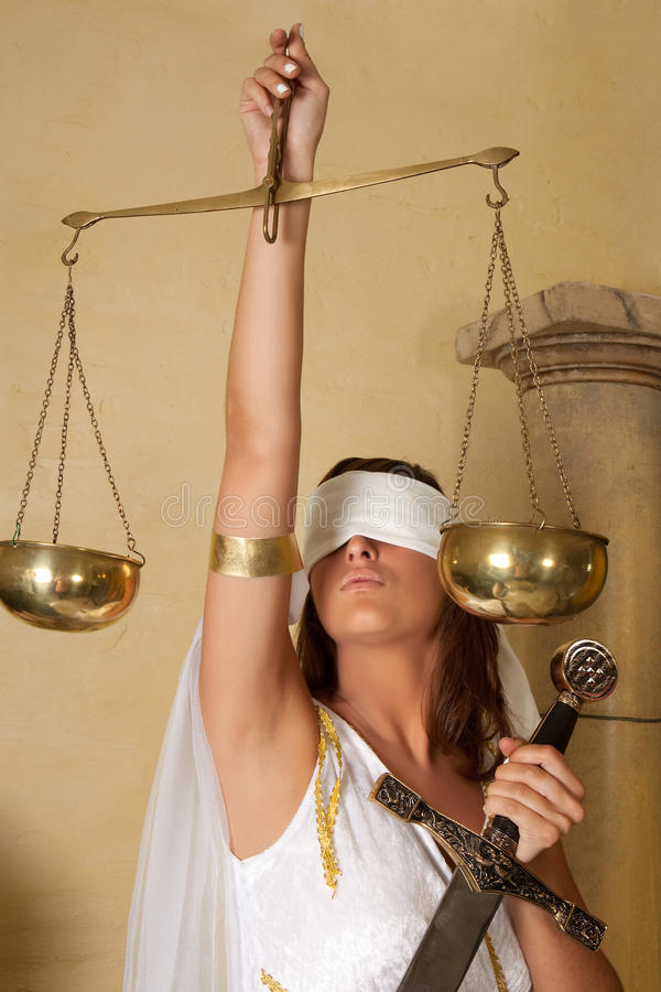 Senhora Justitia fotos de stock royalty free