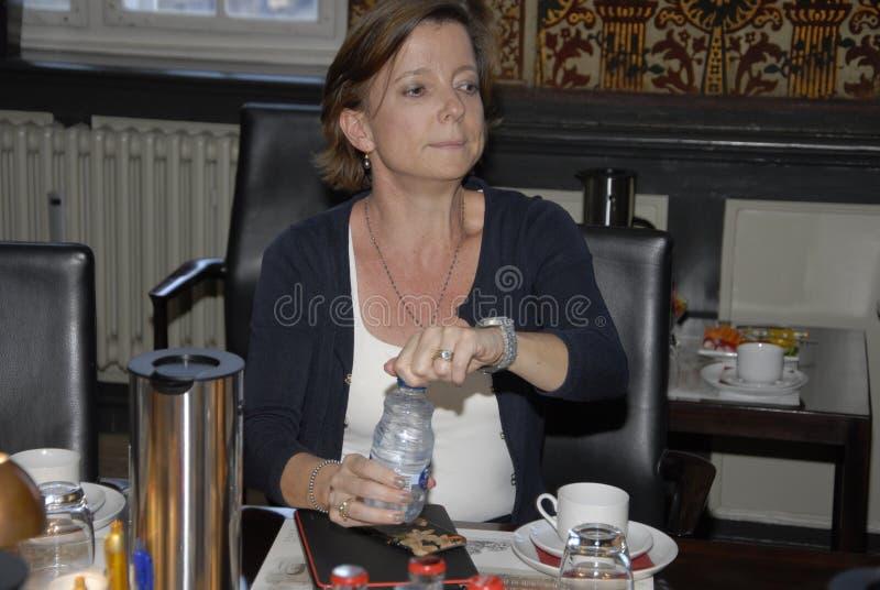 Senhora KAREN ELLEMANN-JENSEN_SOCIAL E MINISTRO HOME imagem de stock royalty free