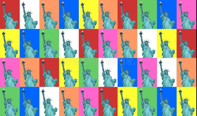 Senhora Liberty Color Collage ilustração stock
