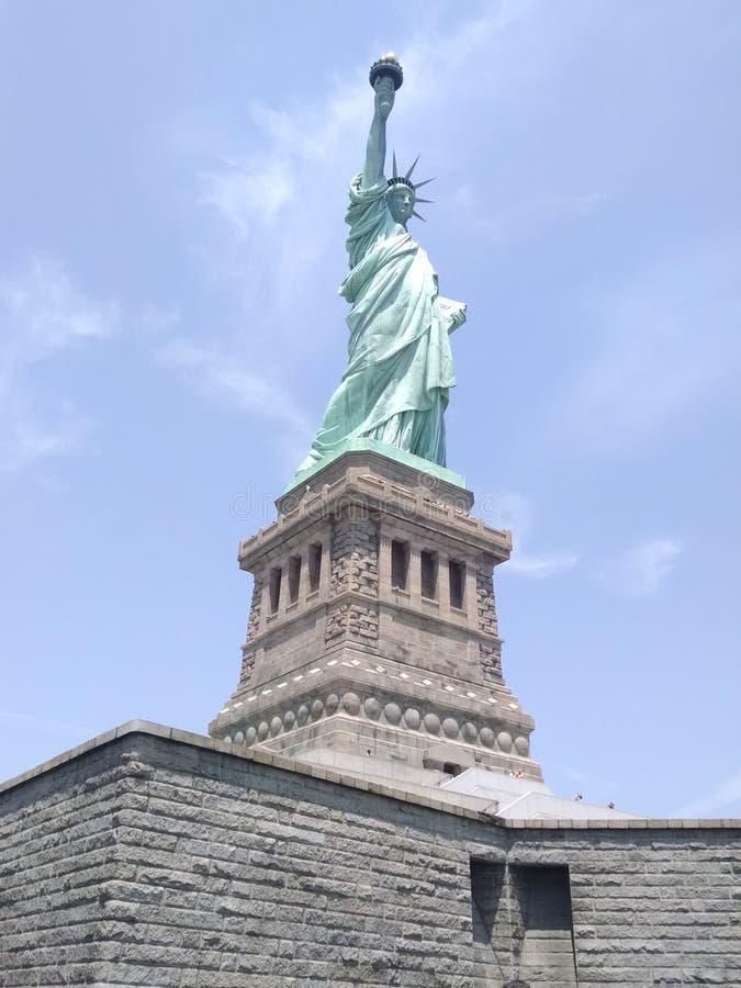 Senhora Liberty da parte inferior à parte superior imagem de stock