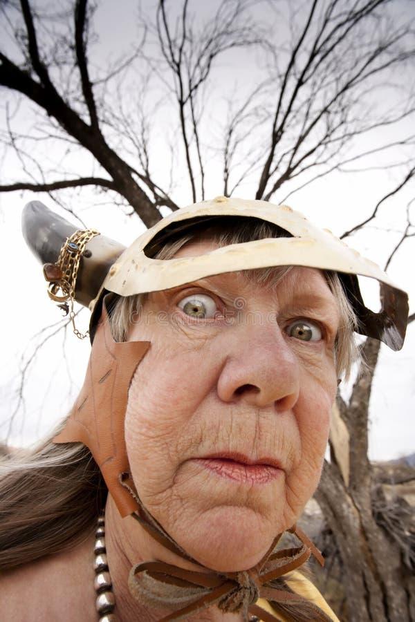 Senhora louca de Viquingue fotos de stock