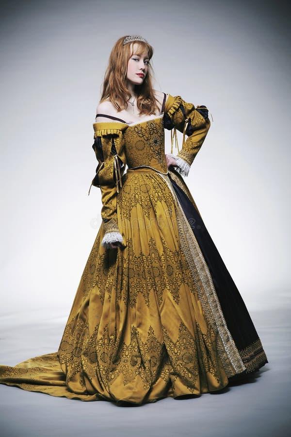 Senhora medieval das épocas imagens de stock