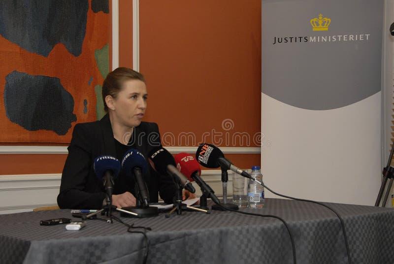 Senhora _minister de Mette Frederiksen para justiça foto de stock