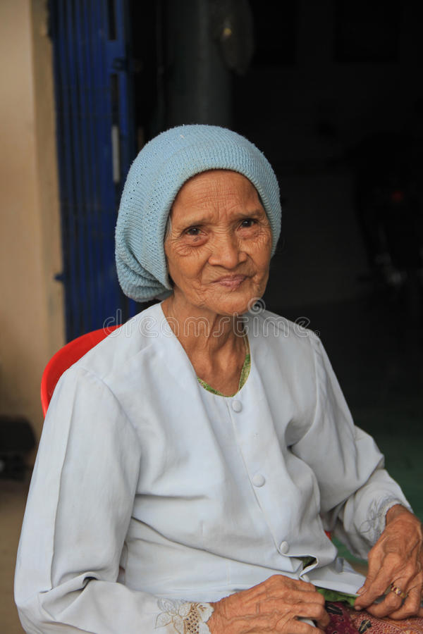 Senhora muçulmana de Cambodia imagens de stock