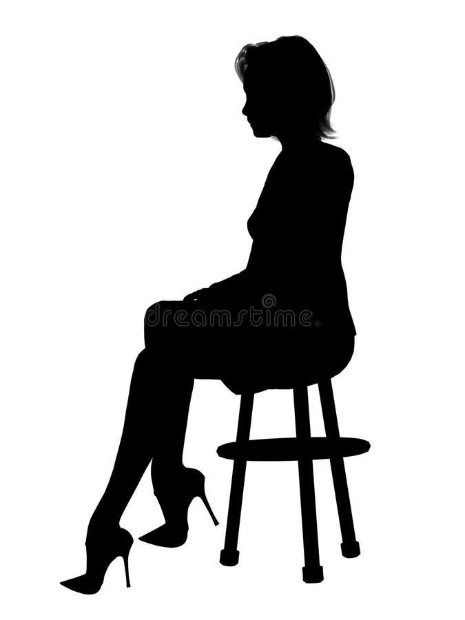 Senhora na cadeira ilustração stock