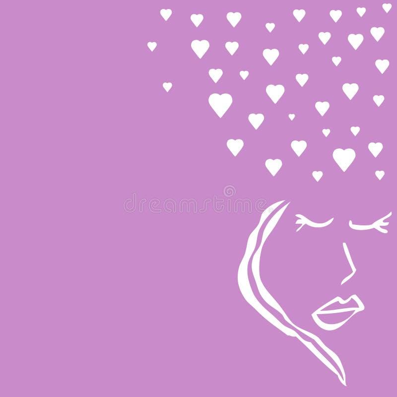 Senhora no amor ilustração royalty free