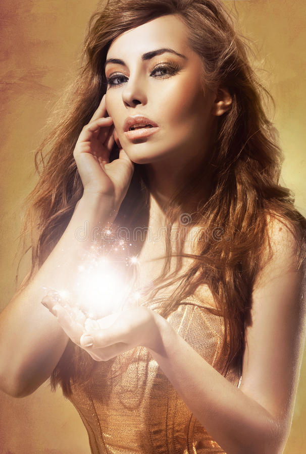 Senhora nova 'sexy' foto de stock royalty free