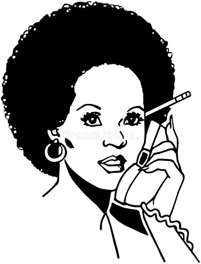 Senhora On The Phone 2 ilustração royalty free