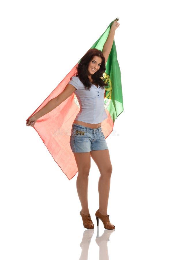 Senhora portuguesa orgulhosa imagem de stock