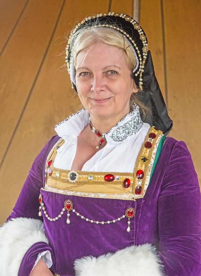 Senhora real no período de Jacobite fotografia de stock royalty free