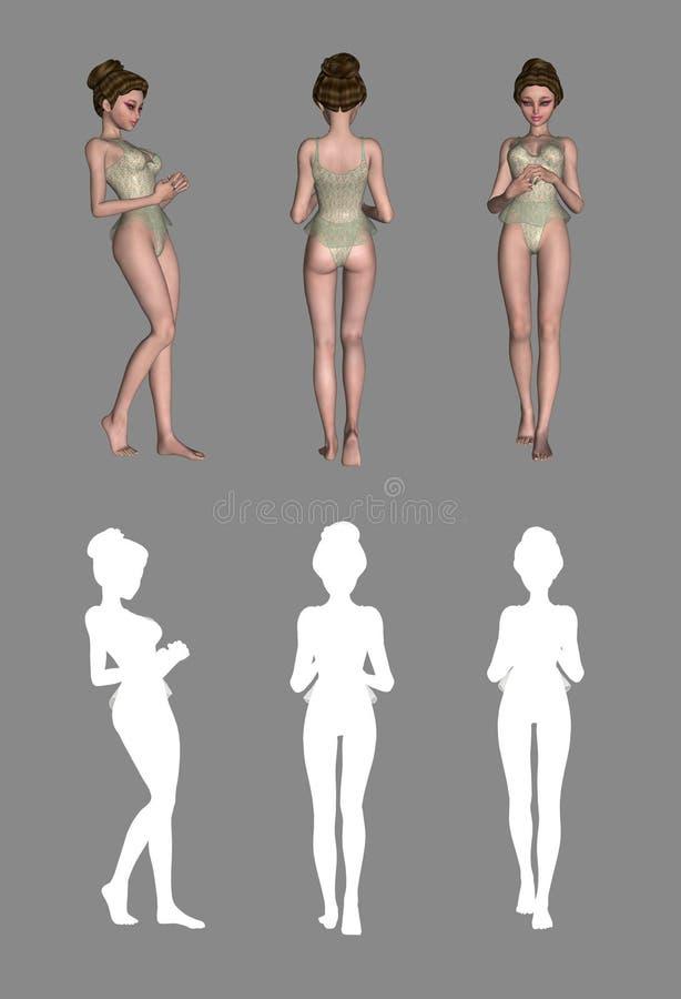 Senhora 'sexy' ilustração do vetor
